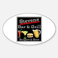 Personalized Bar and Grill Decal