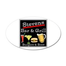Personalized Bar and Grill Wall Decal