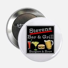 "Personalized Bar and Grill 2.25"" Button"