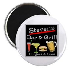 """Personalized Bar and Grill 2.25"""" Magnet (100 pack)"""
