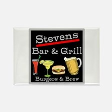 Personalized Bar and Grill Rectangle Magnet (10 pa