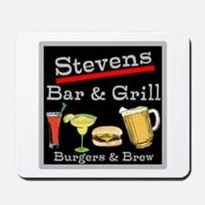 Personalized Bar and Grill Mousepad