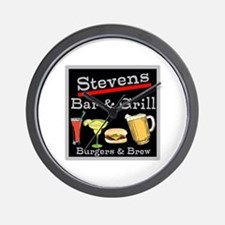 Personalized Bar and Grill Wall Clock