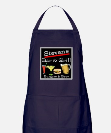 Personalized Bar and Grill Apron (dark)