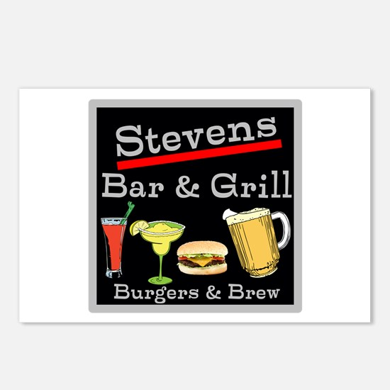Personalized Bar and Grill Postcards (Package of 8
