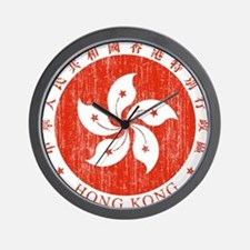 Hong Kong Coat Of Arms Wall Clock