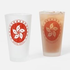 Hong Kong Coat Of Arms Drinking Glass