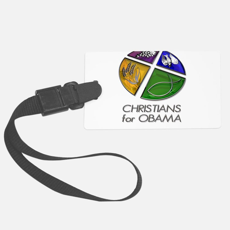 Christians for Obama Luggage Tag