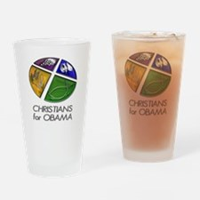 Christians for Obama Drinking Glass