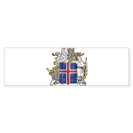 Iceland Coat Of Arms Sticker (Bumper)