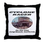 Cyclone Racer Throw Pillow