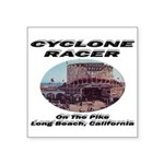 Cyclone Racer Square Sticker 3