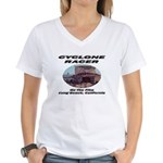 Cyclone Racer Women's V-Neck T-Shirt