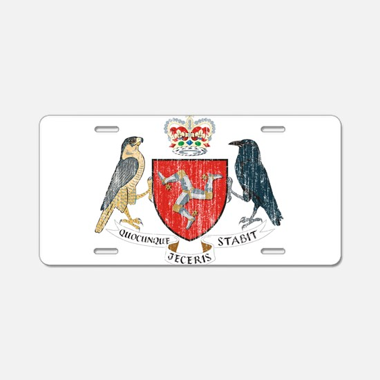 Isle of Man Coat Of Arms Aluminum License Plate