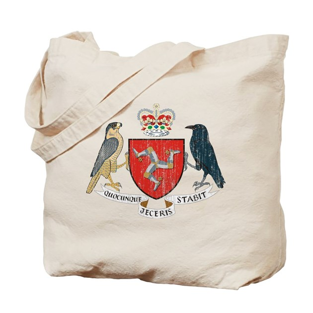 isle of man coat of arms tote bag by coatofarmsartaged. Black Bedroom Furniture Sets. Home Design Ideas