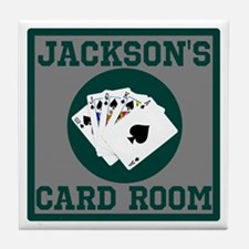 Personalized Card Room Tile Coaster