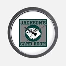 Personalized Card Room Wall Clock