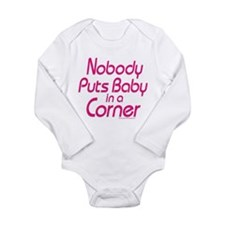 Baby in a Corner Long Sleeve Infant Bodysuit
