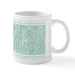 Cat in Tall Grass Mug