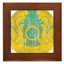 Kazakhstan Coat Of Arms Framed Tile