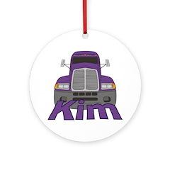 Trucker Kim Ornament (Round)