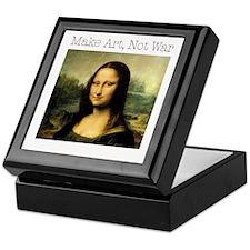 MakeArtNotWar.jpg Keepsake Box