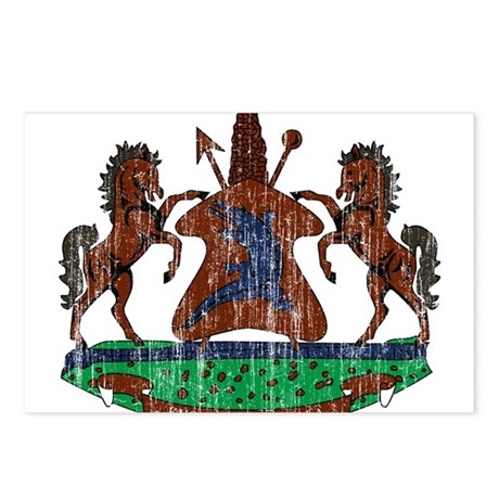 Lesotho Coat Of Arms Postcards (Package of 8)