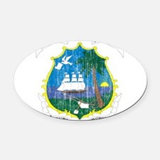Liberia Coat Of Arms Oval Car Magnet