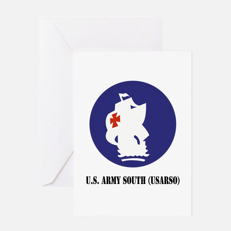 U.S. Army South (USARSO) with Text Greeting Card