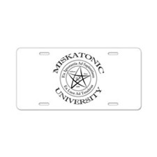 Miskatonic University Aluminum License Plate