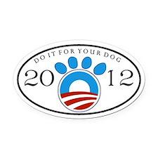 Obama 2012 Dog Oval Car Magnet