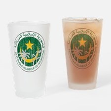 Mauritania Coat Of Arms Drinking Glass