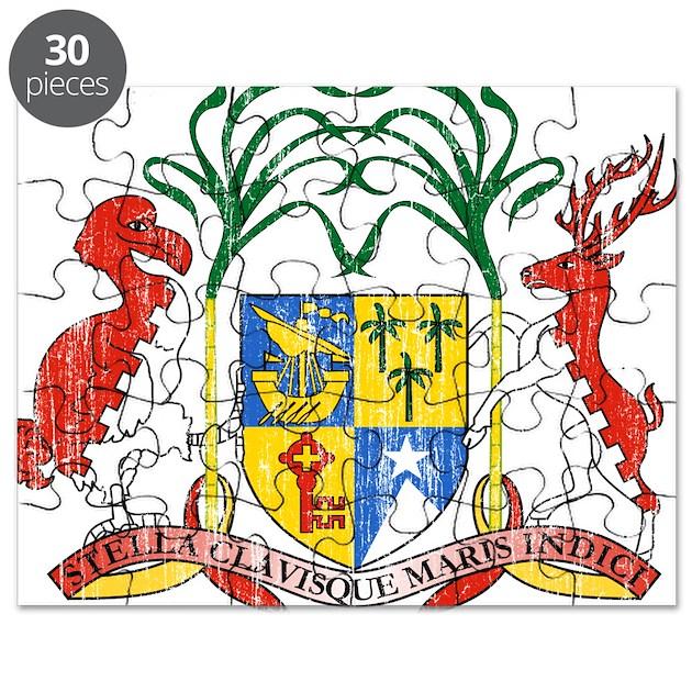 Kitchen Fittings Mauritius: Mauritius Coat Of Arms Puzzle By CoatOfArmsartaged
