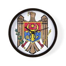 Moldova Coat Of Arms Wall Clock