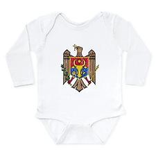 Moldova Coat Of Arms Long Sleeve Infant Bodysuit