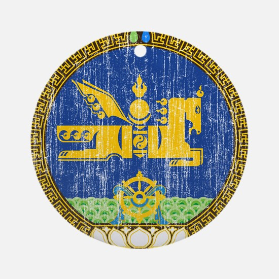 Mongolia Coat Of Arms Ornament (Round)