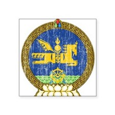 """Mongolia Coat Of Arms Square Sticker 3"""" x 3"""""""