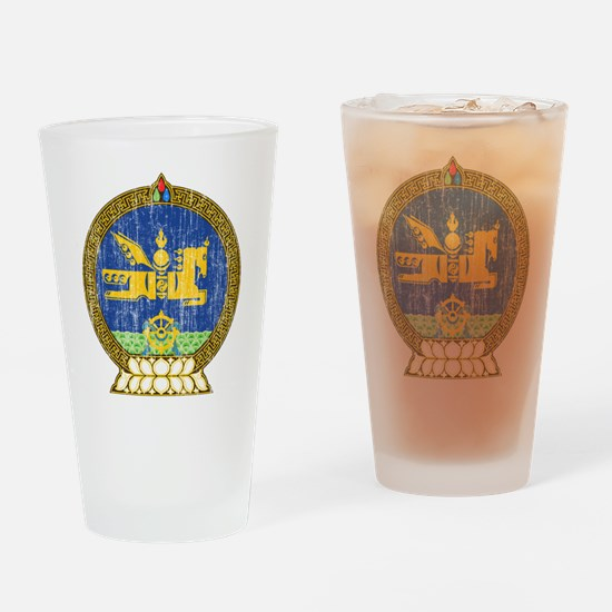 Mongolia Coat Of Arms Drinking Glass