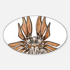 steampunk grey kitten Leather wings Decal