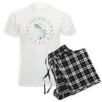 Serpent Mound Spiral Men's Light Pajamas
