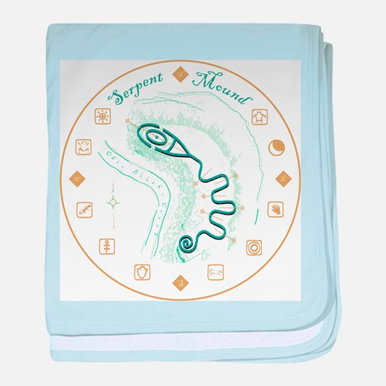Serpent Mound Spiral baby blanket
