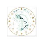 """Serpent Mound Spiral Square Sticker 3"""" x 3&qu"""