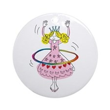 hula hoop princess Ornament (Round)