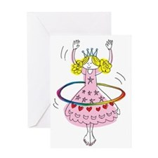hula hoop princess Greeting Card