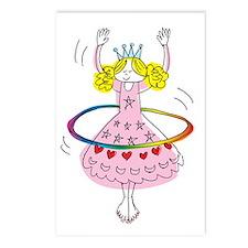 hula hoop princess Postcards (Package of 8)