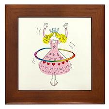 hula hoop princess Framed Tile