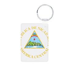 Nicaragua Coat Of Arms Aluminum Photo Keychain