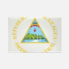 Nicaragua Coat Of Arms Rectangle Magnet