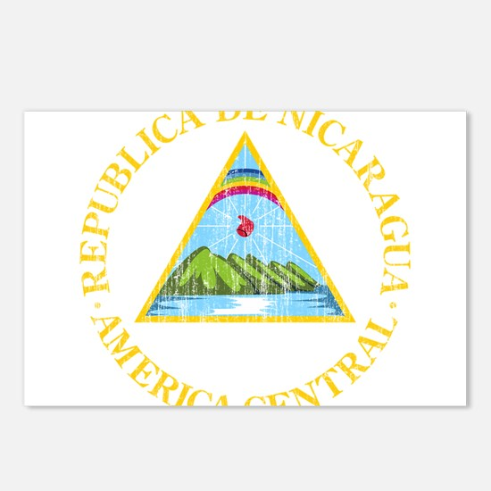 Nicaragua Coat Of Arms Postcards (Package of 8)