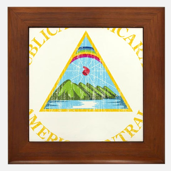 Nicaragua Coat Of Arms Framed Tile